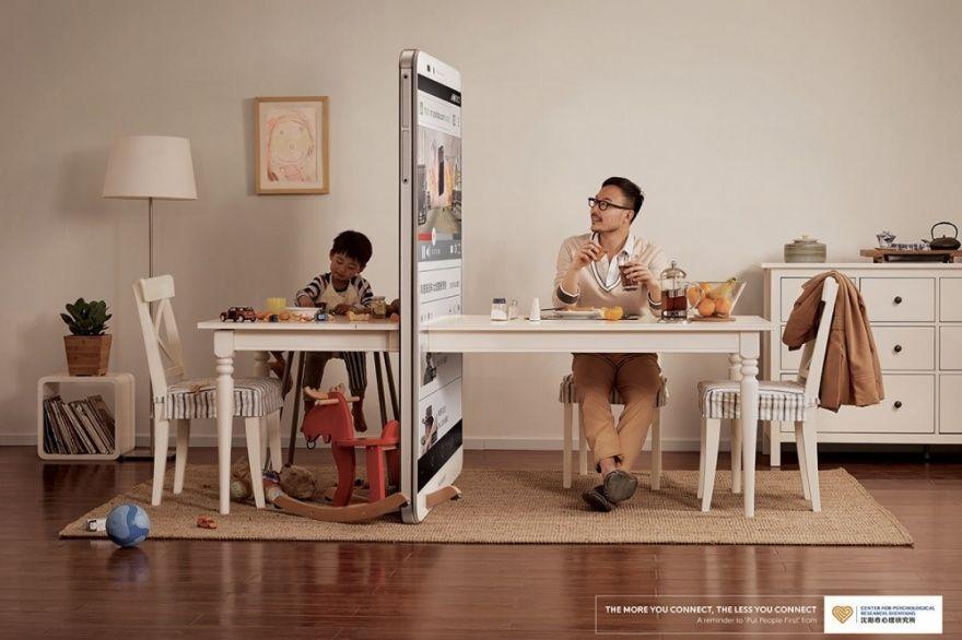 Компания Ogilvy в Пекине создала рекламную кампанию, которая показывает, какое место в нашей жизни занимают гаджеты