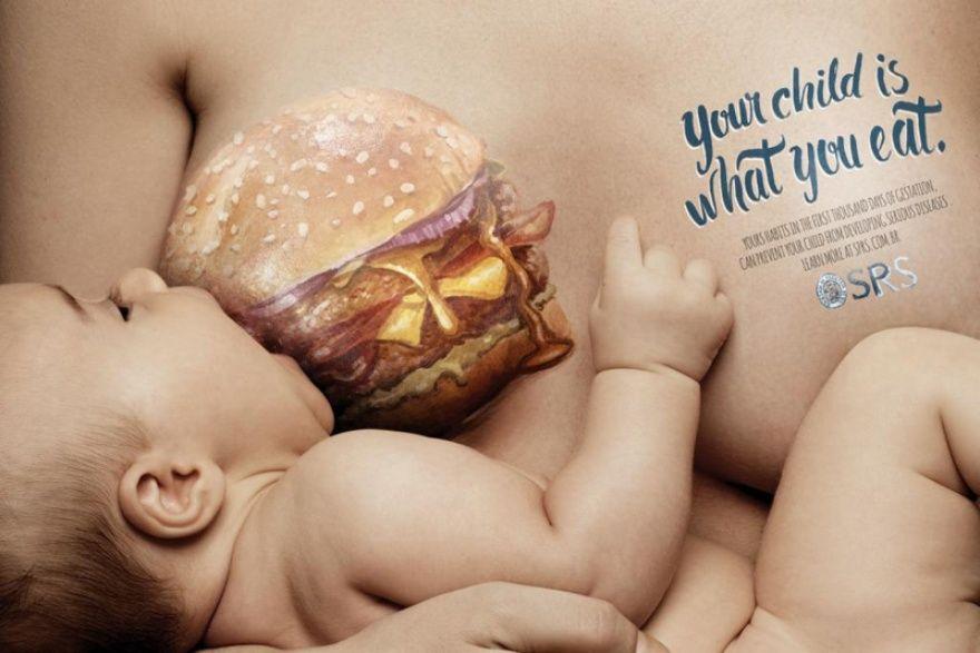 Твой ребенок ест то же, что и ты.