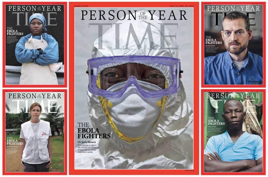 2. Человеком года 2014 стал собирательный образ борцов с лихорадкой Эбола.