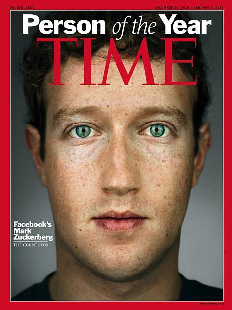 6. В 2010 году основатель Facebook Марк Цукерберг был назван Человеком года по версии Time. Цугерберг был удостоен этого звания «за создание новой системы обмена информацией».