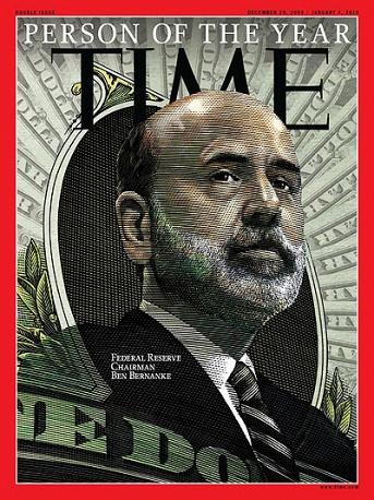 7. В 2009 году Человеком года стал председатель Федеральной резервной системы Бен Бернанке. Журнал отметил заслуги Бернанке по борьбе с последствиями кризиса.