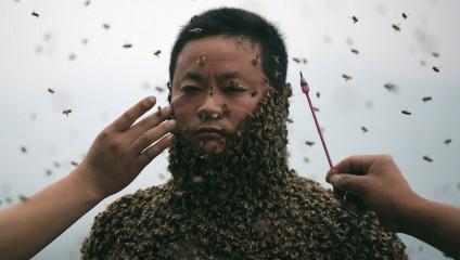 Ужасающие Рекорды: «Живой Костюм» Из Пчел