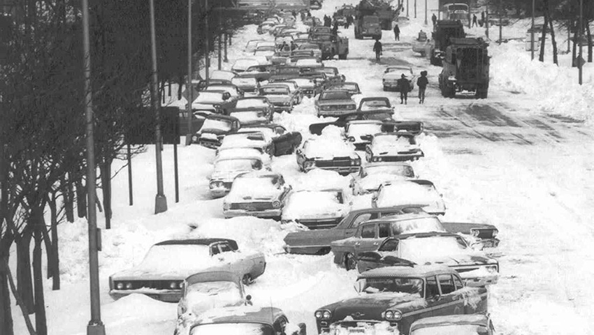 Чикаго, США 1967 — 58 сантиметров снега