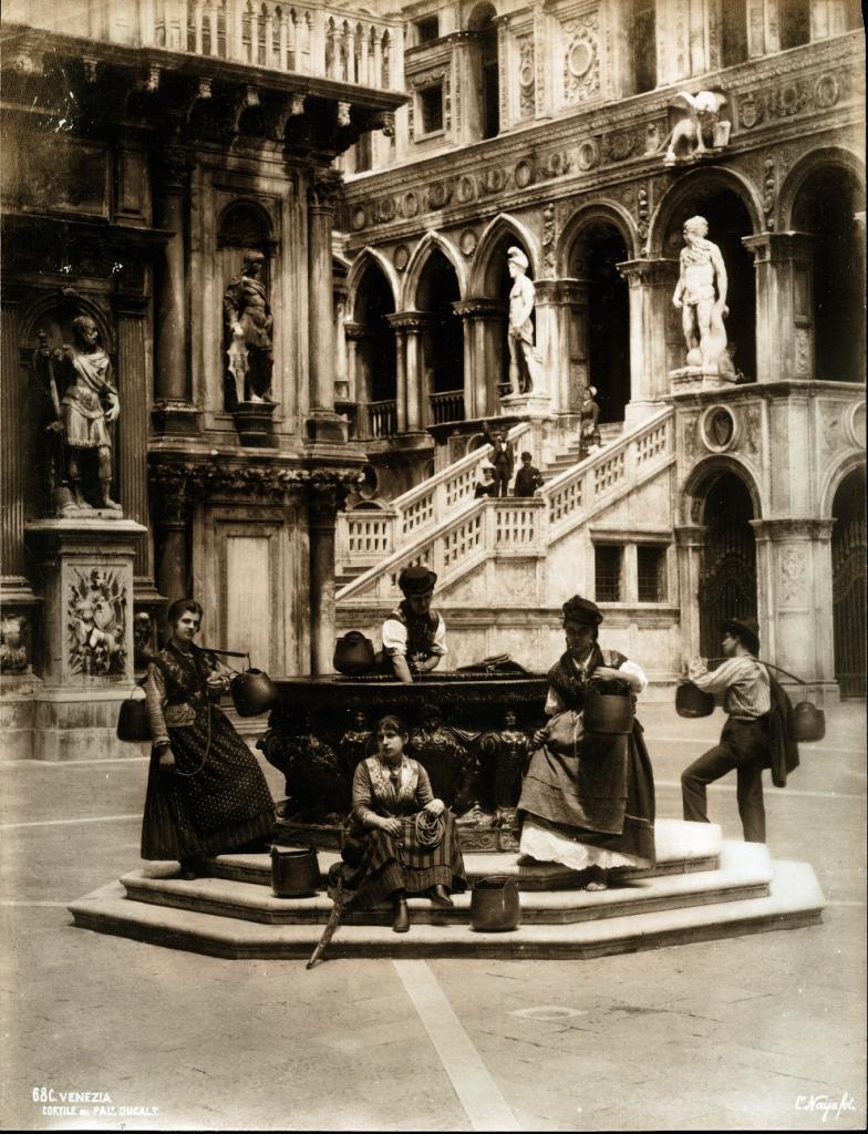 Двор дворца Дожей, 1880 год.