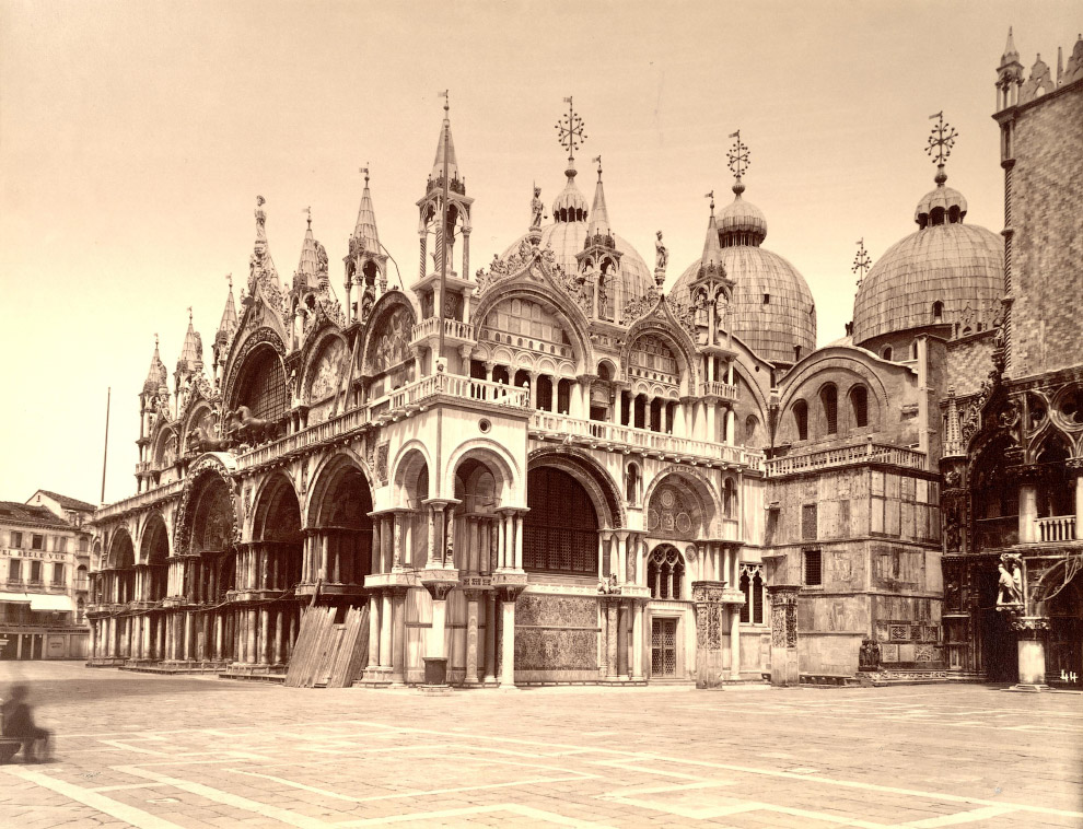 Южный фасад собора Святого Марка и Дворец Дожей.