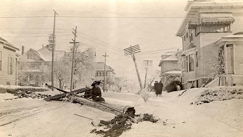 Новая Англия, США 1717 — 274 сантиметра снега