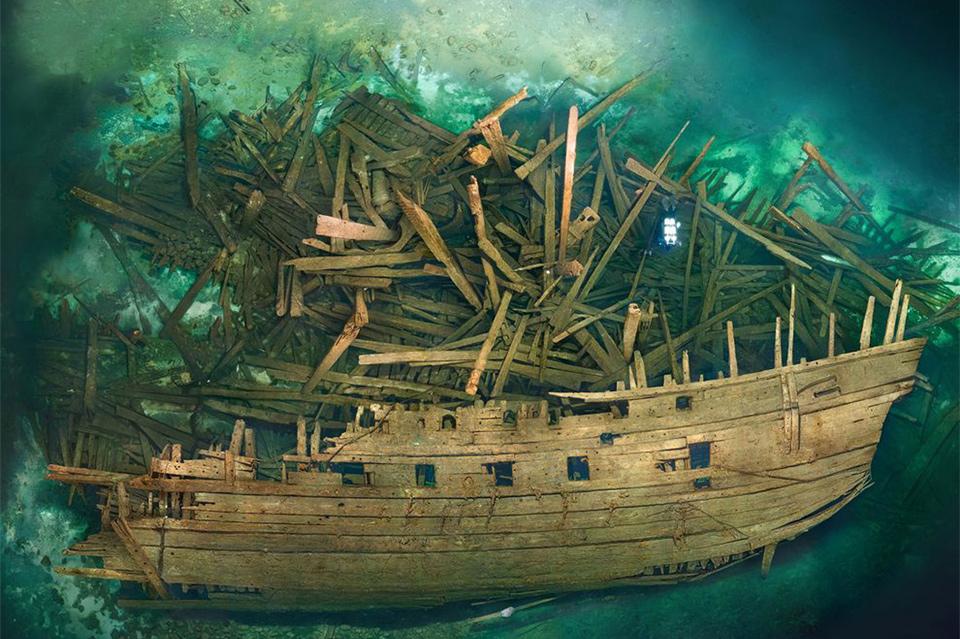 Шведский военный корабль Марс спустя 500 лет, после крушения.