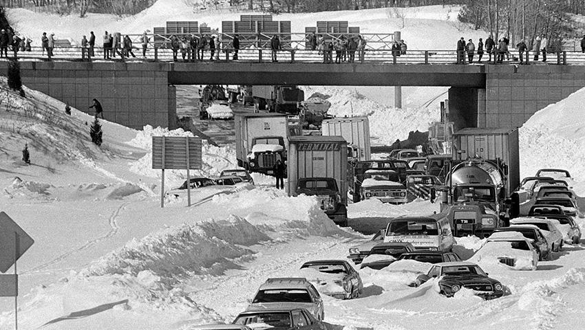 Бостон, США 1978 — 69 сантиметров снега