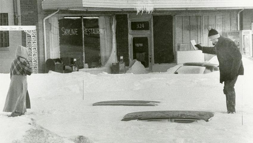 Онтарио и Квебек, Канада 1971 — 61 сантиметр снега