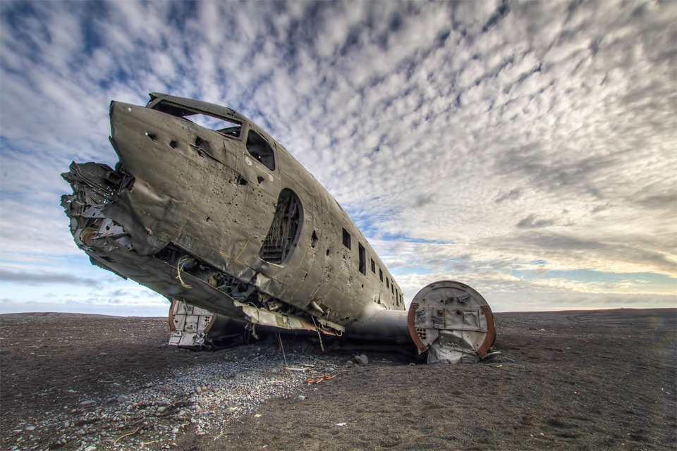 Потерянный самолет, Исландия.