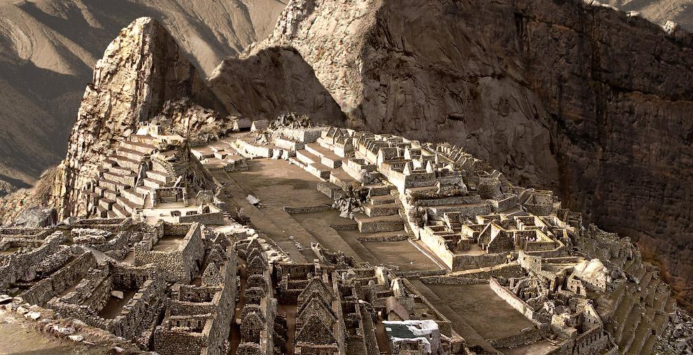 Мачу-Пикчу в Перу во время засухи.