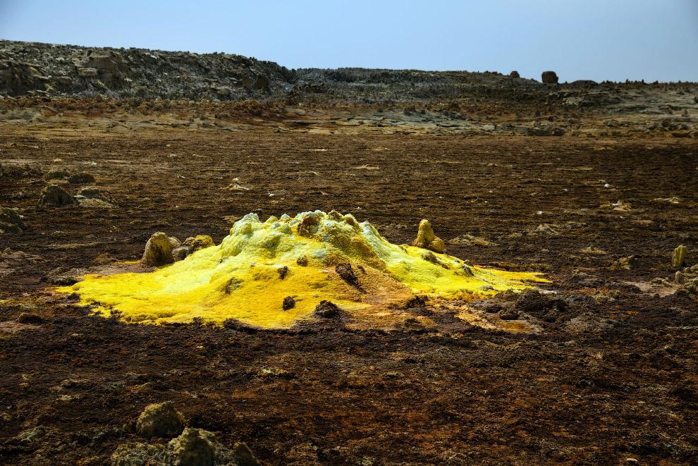 Вулкан Даллол - самый низкий вулкан в мире
