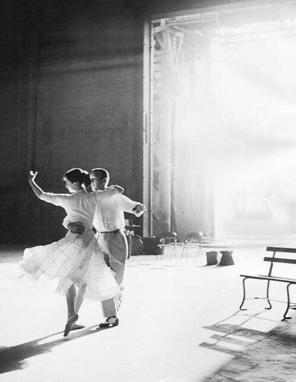 Одри Хепберн и Фред Астер, 1957 год.