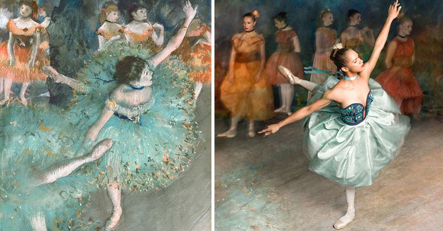 Балерина оживила картины известного импрессиониста Эдгара Дега