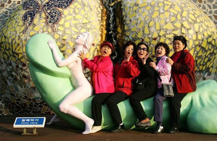 Корейский парк любви – воплощение самых смелых сексуальных фантазий