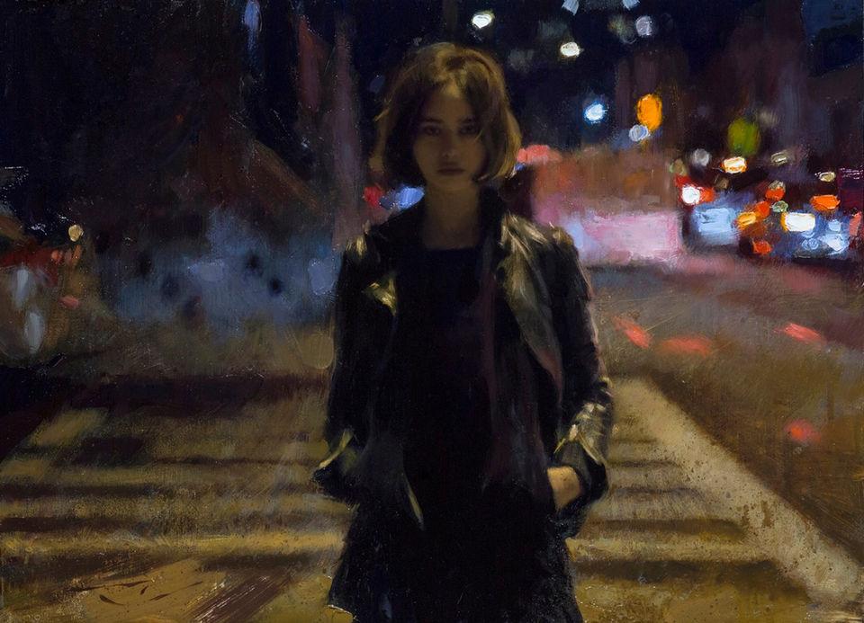 Живописная ночная жизнь в картинах xудожника Кейси Бо
