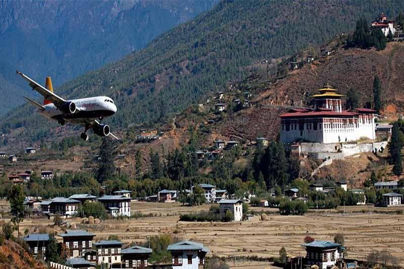 5. Аэропорт Паро, Бутан.