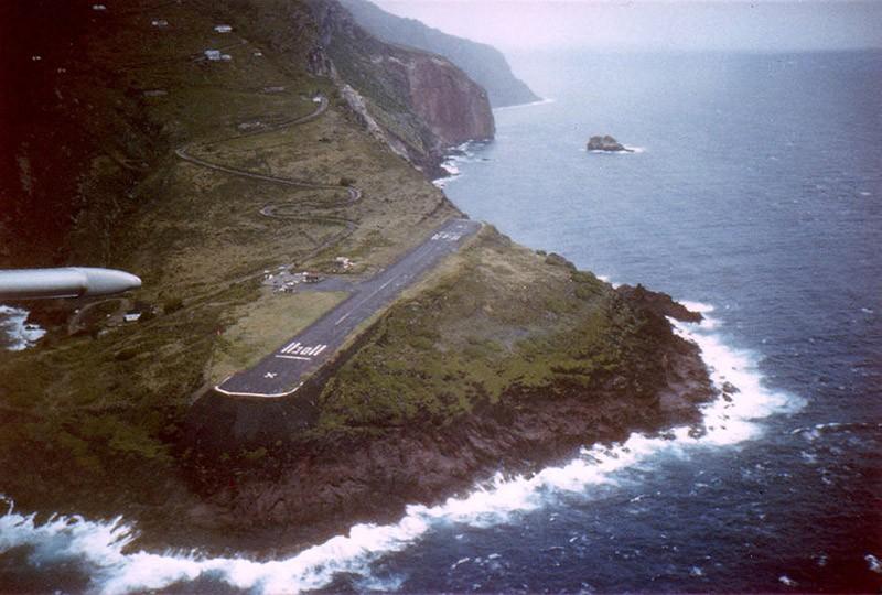12. Аэропорт на острове Саба.