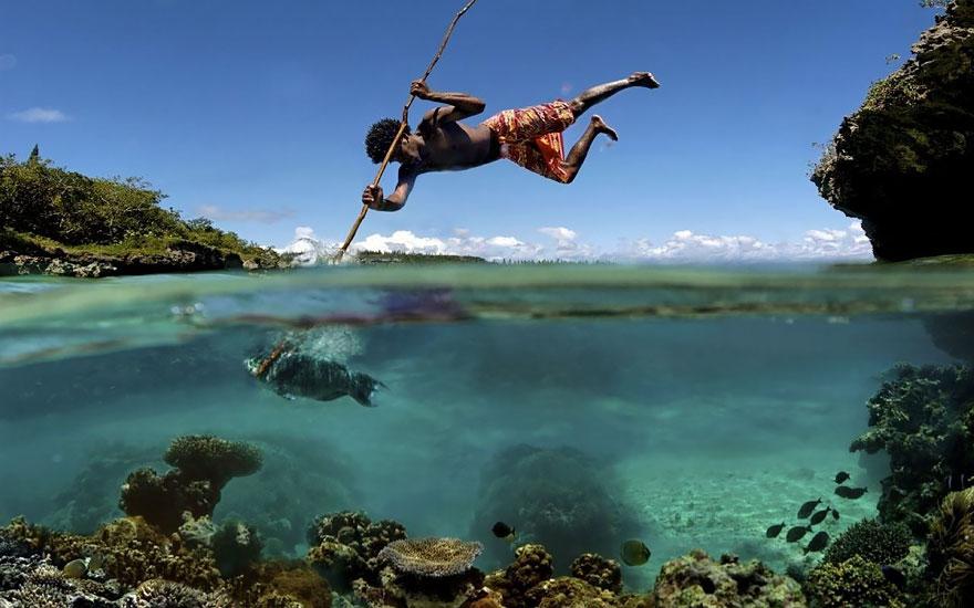 11. Рыбная охота, Новая Каледония