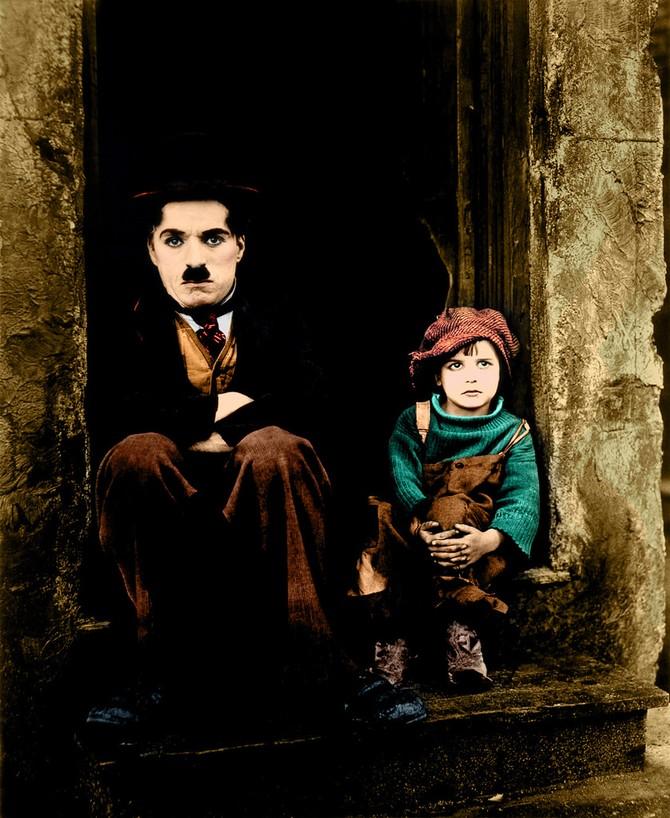 12 редких цветных фотографий Чарли Чаплина