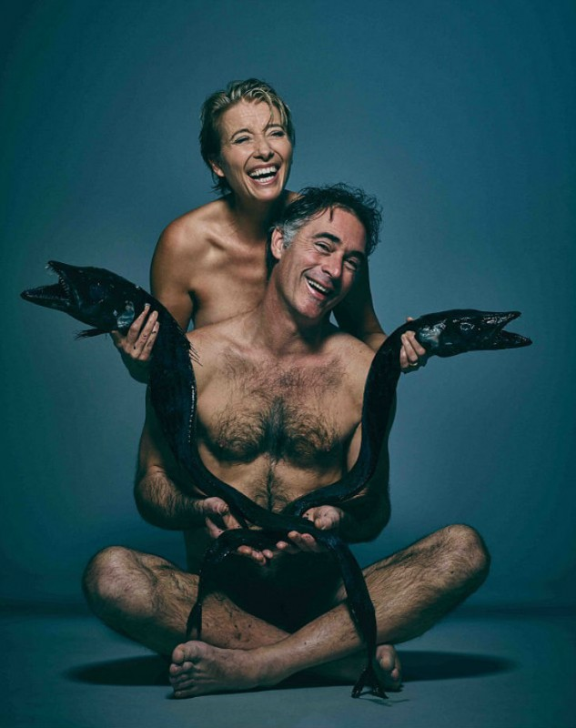 Emma-Thompson-56-stripped-off-with-her-husband-Greg-Wise-for-a-unique-shoot-for-FishLove-which-saw-them-posing-with-two-deep-sea-Black-Scabbard-fish-from-Portugal-633x800