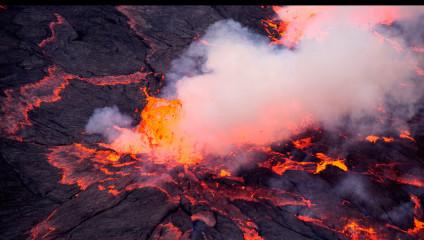 Уникальные снимки извержения вулкана Ньирагонго, сделанные дроном