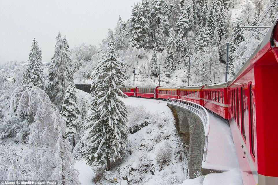 Самая живописная железная дорога Европы в Швейцарии
