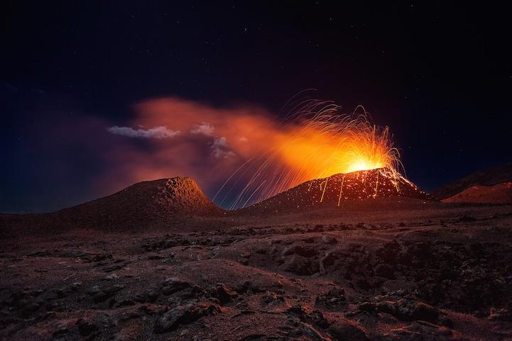 La Fournaise volcano