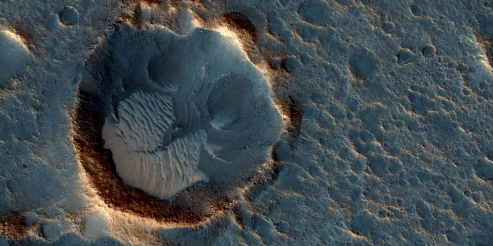 "A location on Mars associated with the best-selling novel and Hollywood movie, ""The Martian is seen in an image from NASA's Mars Reconnaissance Orbiter"