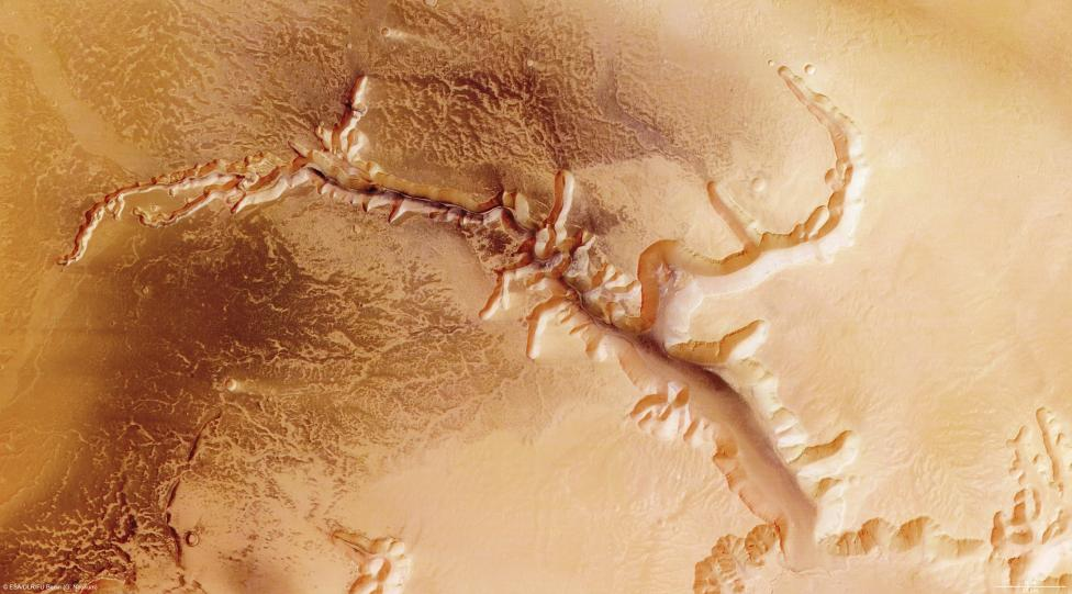 The High-Resolution Stereo Camera on board ESA?s Mars Express has returned images of Echus Chasma