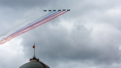 Репетиция авиапарада на День Победы