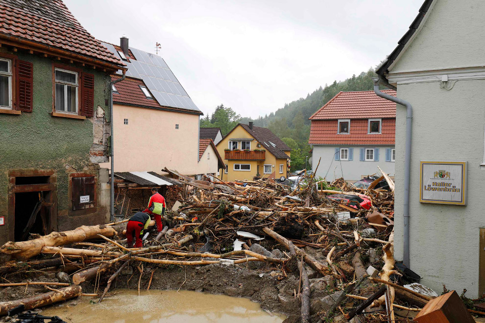 Мощное наводнение в Германии