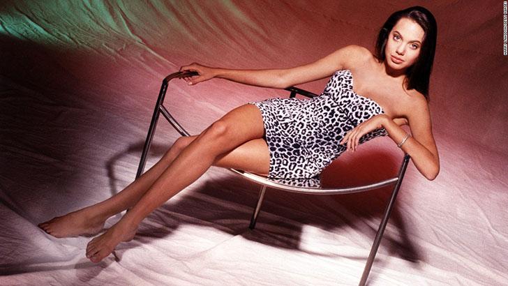 Фотосессия юной и еще не знаменитой Анджелины Джоли
