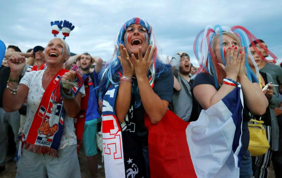 France fans watch EURO 2016 match in Marseille
