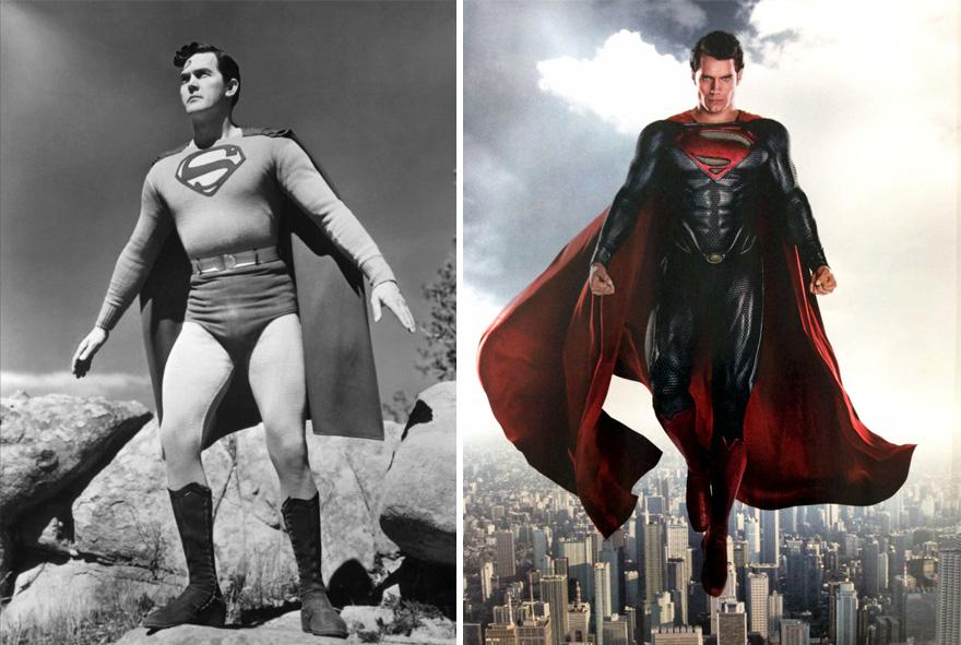 Как супергерои выглядели в прошлом
