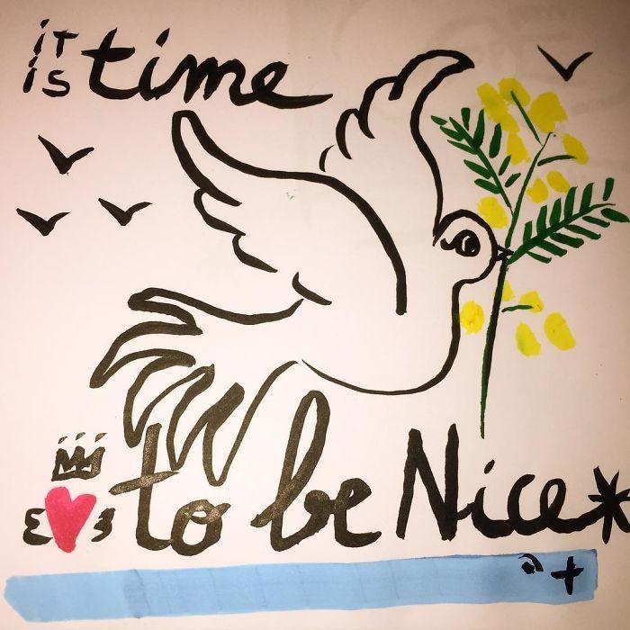 Рисунки о страшной трагедии в Ницце от художников со всего мира
