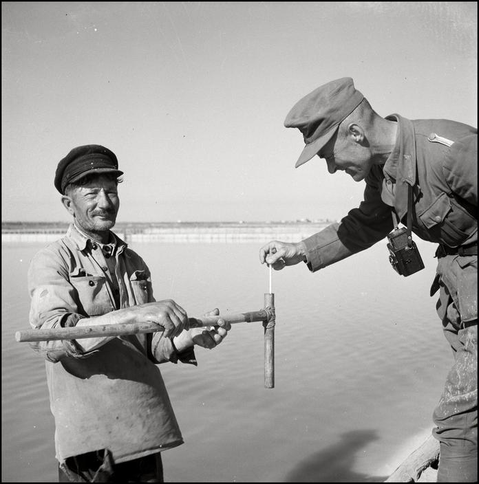 UKRAINE. Crimea. 1943. Saltworks of the Black Sea.   M-UK-SAK-003