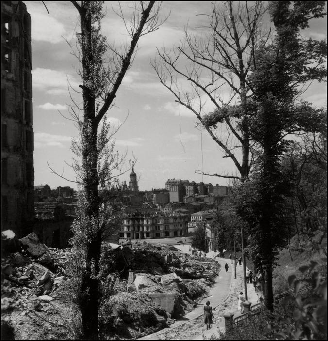 UKRAINE. 1943. Kiev. Institution Street. A-UK-KIE-031
