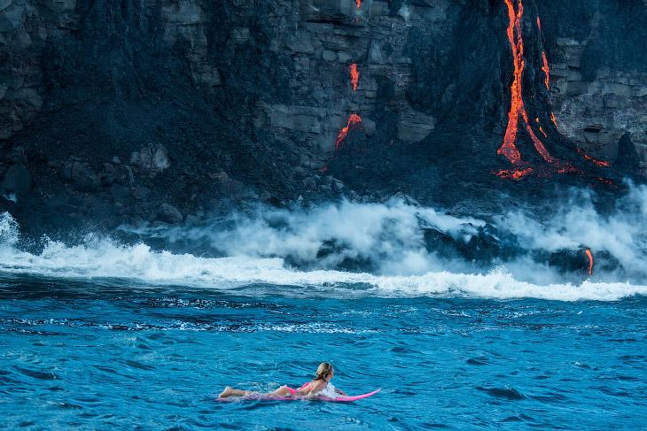 Картинки по запросу Заплыв с лавой на Гавайях