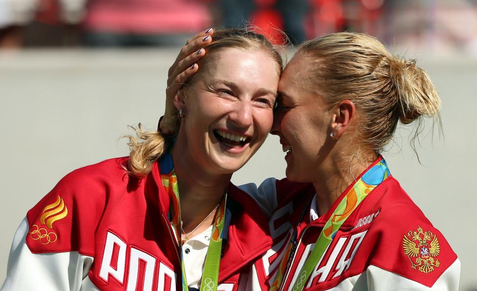Tennis - Women's Doubles Victory Ceremony