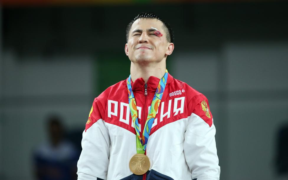 Wrestling - Men's Greco-Roman 75 kg Victory Ceremony