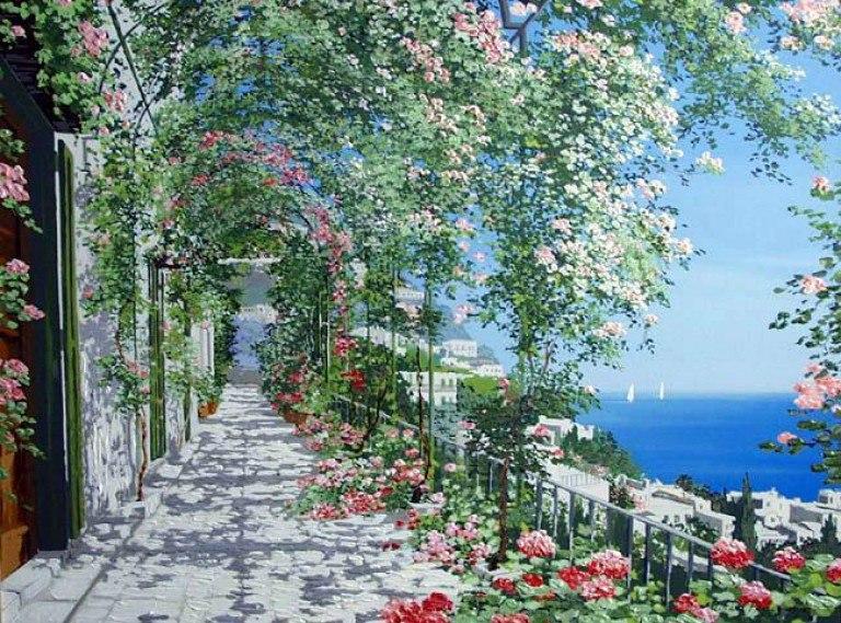 Море, солнце и цветы