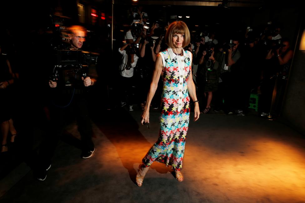 Anna Wintour arrives to attend a presentation of Tom Ford's Autumn/Winter 2016 collections during New York Fashion Week in the Manhattan borough of New York