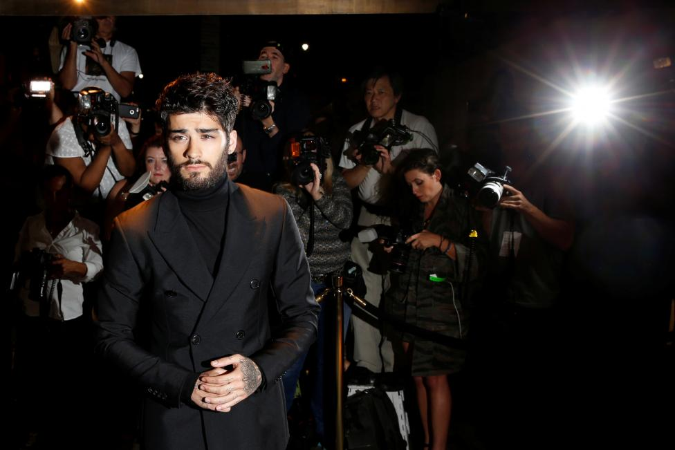 Zayn Malik arrives to attend a presentation of Tom Ford's Autumn/Winter 2016 collections during New York Fashion Week in the Manhattan borough of New York