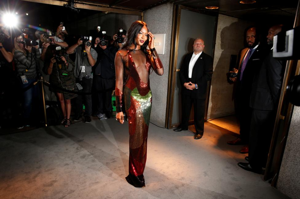 Model Naomi Campbell arrives to attend a presentation of Tom Ford's Autumn/Winter 2016 collections during New York Fashion Week in the Manhattan borough of New York