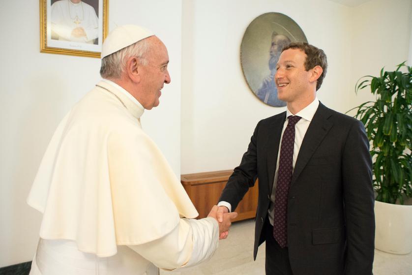 Pope Francis Meets With Facebook CEO Mark Zuckerberg - Vatican