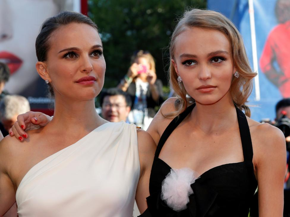 """Actress Natalie Portman and Lily-Rose Depp attend the red carpet for the movie """"Planetarium"""" at the 73rd Venice Film Festival in Venice"""