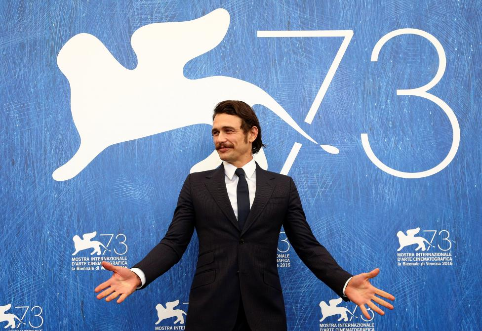 """Director and actor James Franco attends the photocall for the movie """"In Dubious Battle"""" at the 73rd Venice Film Festival in Venice"""