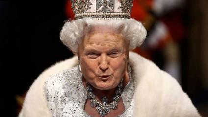 Королева Трамп: дизайнер создает коллажи из снимков Дональда Трампа и королевы Елизаветы