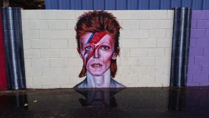 Великолепный стрит-арт, посвященный известному музыканту Дэвиду Боуи